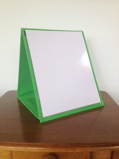 Vinyl Desktop Stand With Pocket Chart Amp Dry Erase Board